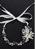 In Stock Gorgeous Wedding Hair Ornament With Rhinestones & Pearls