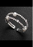 In Stock Gorgeous Sliver Bracelets With Rhinestones & Imitation Pearls